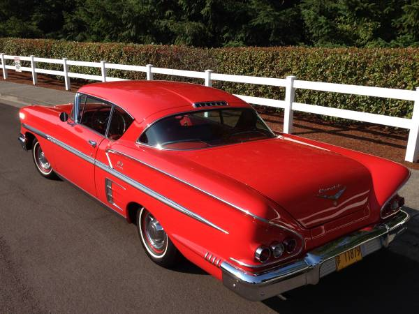 BBSS 1958 Chevy Impala Red 77k