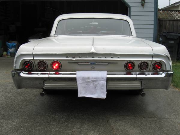 BBSS 1964 Chevy Impala White on Red