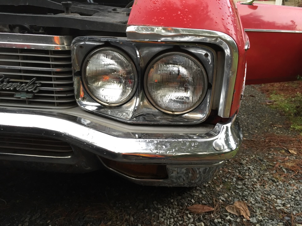 1972 Chevy Impala 4 Door Hardtop Red
